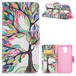 The Tree of Life Leather Wallet Case for Huawei Y7