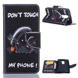 Grim Reaper Leather Wallet Case for LG K7 X210 X210DS MS330 LS675