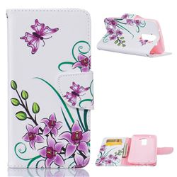 Pink Butterfly Leather Wallet Case for LG K7 X210 X210DS MS330 LS675