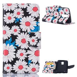 Chrysanthemum Leather Wallet Case for LG K7 X210 X210DS MS330 LS675