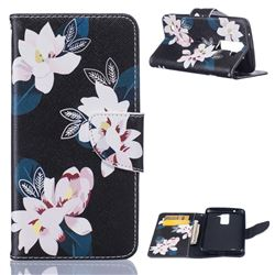 Black Lily Leather Wallet Case for LG K7 X210 X210DS MS330 LS675
