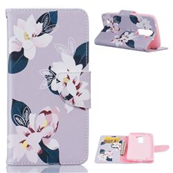 Gray Lily Leather Wallet Case for LG K7 X210 X210DS MS330 LS675