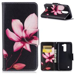 Lotus Flower Leather Wallet Case for LG K7