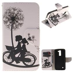 Cycling Dandelion PU Leather Wallet Case for LG K8