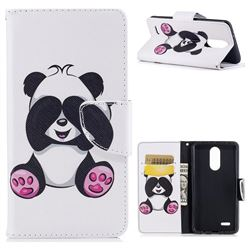 Lovely Panda Leather Wallet Case for LG K8 2017