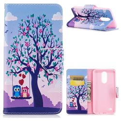 Tree and Owls Leather Wallet Case for LG K8 2017