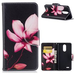 Lotus Flower Leather Wallet Case for LG K8 2017