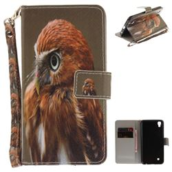 Young Eagle Hand Strap Leather Wallet Case for LG X Power LS755 K220DS K220 US610 K450