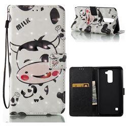 Milk Cow 3D Painted Leather Wallet Case for LG X Power LS755 K220DS K220 US610 K450