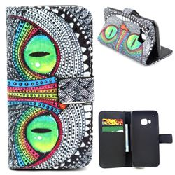 Owl Eye Leather Wallet Case for HTC One M9