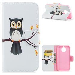 Owl on Tree Leather Wallet Case for Motorola Moto G6