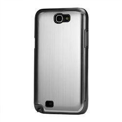 Brushed Aluminum Case Hard Case for Samsung Galaxy Note 2 N7100 Case / Note II N7100 - Silver