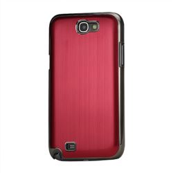 Brushed Aluminum Case Hard Case for Samsung Galaxy Note 2 N7100 Case / Note II N7100 - Red