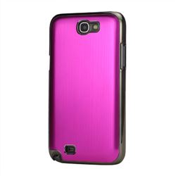 Brushed Aluminum Case Hard Case for Samsung Galaxy Note 2 N7100 Case / Note II N7100 - Rose