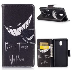Crooked Grin Leather Wallet Case for Nokia 3 Nokia3