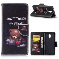 Chainsaw Bear Leather Wallet Case for Nokia 3 Nokia3