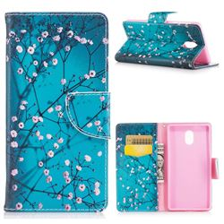 Blue Plum Leather Wallet Case for Nokia 3 Nokia3