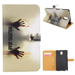 For Samsung Galaxy Note 3 N9000 N9005 Walking Dead Leather Flip Cover