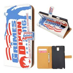 For Samsung Galaxy Note 3 N9000 N9005 Grimes & Dixon Leather Flip Cover