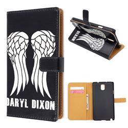 For Samsung Galaxy Note 3 N9000 N9005 Wings Leather Flip Cover