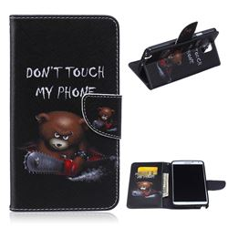 Chainsaw Bear Leather Wallet Case for Samsung Galaxy Note 3 N9000 N9005