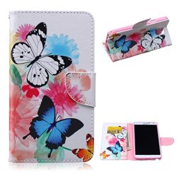 Vivid Flying Butterflies Leather Wallet Case for Samsung Galaxy Note 3 N9000 N9005