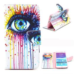 Eye Painting Leather Wallet Case for Samsung Galaxy Note 4 N910