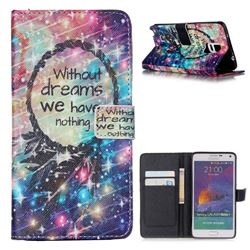 Do Have Dreams Leather Wallet Case for Samsung Galaxy Note 4 N910