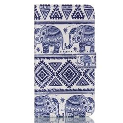 Elephant Tribal Leather Wallet Case for Samsung Galaxy Note 5