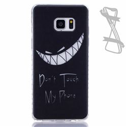Crooked Grin Painted Non-slip TPU Back Cover for Samsung Galaxy Note 7