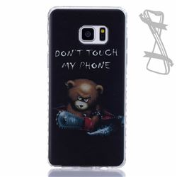 Chainsaw Bear Painted Non-slip TPU Back Cover for Samsung Galaxy Note 7