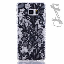 Black Rose Painted Non-slip TPU Back Cover for Samsung Galaxy Note 7