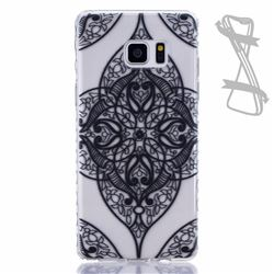 Black Love Painted Non-slip TPU Back Cover for Samsung Galaxy Note 7