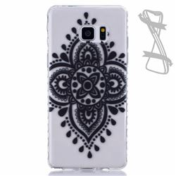 Black Chinese Knot Painted Non-slip TPU Back Cover for Samsung Galaxy Note 7