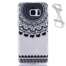 Black Campanula Painted Non-slip TPU Back Cover for Samsung Galaxy Note 7