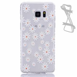 Yellow Daisy Painted Non-slip TPU Back Cover for Samsung Galaxy Note 7