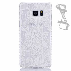 White Rose Painted Non-slip TPU Back Cover for Samsung Galaxy Note 7