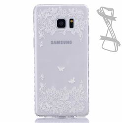Vivid Butterflies Painted Non-slip TPU Back Cover for Samsung Galaxy Note 7