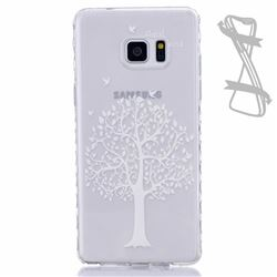 White Tree Painted Non-slip TPU Back Cover for Samsung Galaxy Note 7