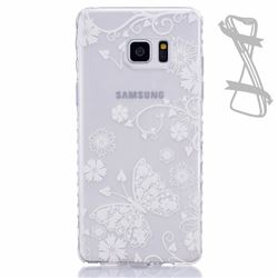 White Butterfly Painted Non-slip TPU Back Cover for Samsung Galaxy Note 7