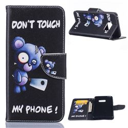 Blue Bear Leather Wallet Case for Samsung Galaxy Note 7