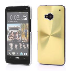 CD Veins Metal Aluminium Hard Case for HTC One M7 801e - Gold