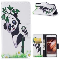 Bamboo Panda Leather Wallet Case for Huawei P10