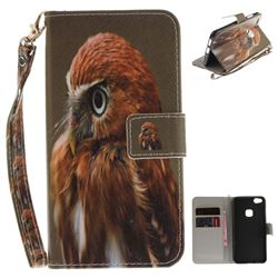Young Eagle Hand Strap Leather Wallet Case for Huawei P10 Lite P10Lite