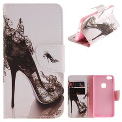 High Heels PU Leather Wallet Case for Huawei P10 Lite P10Lite