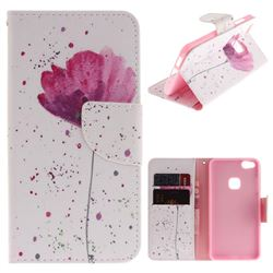 Purple Orchid PU Leather Wallet Case for Huawei P10 Lite P10Lite
