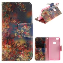 Colored Flowers PU Leather Wallet Case for Huawei P10 Lite P10Lite