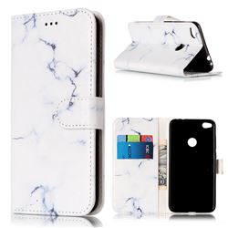 Soft White Marble PU Leather Wallet Case for Huawei P8 Lite 2017 / Honor 8 Lite / Nova Lite / P9 Lite 2017