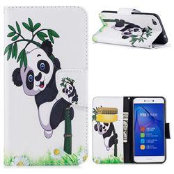 Bamboo Panda Leather Wallet Case for Huawei P8 Lite 2017 / P9 Honor 8 Nova Lite