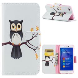 Owl on Tree Leather Wallet Case for Huawei P8 Lite 2017 / P9 Honor 8 Nova Lite